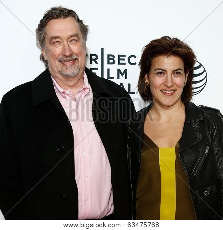 NEW YORK-APR 16: Geoff Gilmore (L) and Genna Terranova at the world premiere of