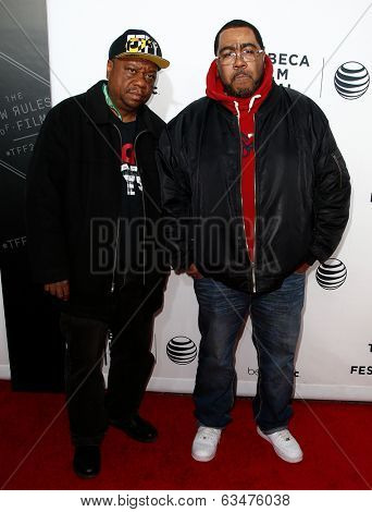 NEW YORK-APR 16: Rapper Special K (L) and Teddy Ted attend the premiere of
