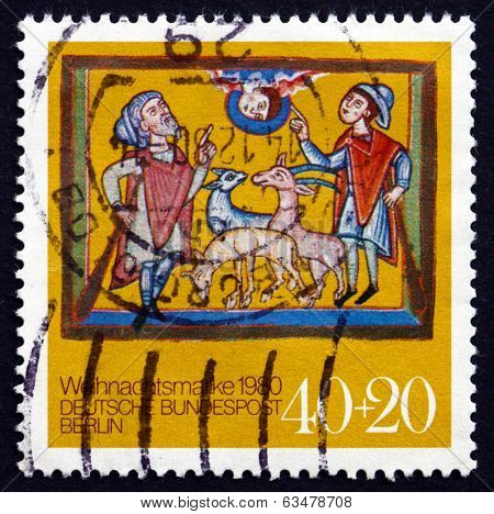 Postage Stamp Germany, Berlin 1980 Annunciation To The Shepherds