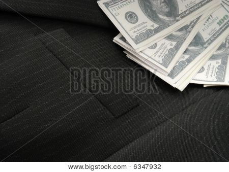 Dollars On The Male Suit
