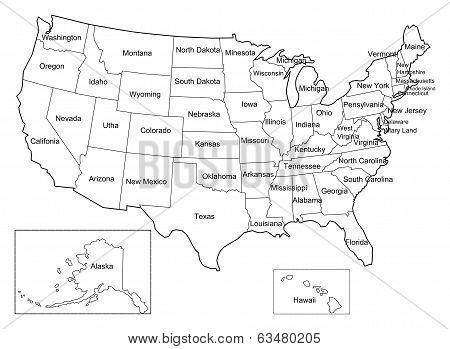 USA map vecter