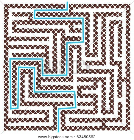 Brown Square Maze With Help