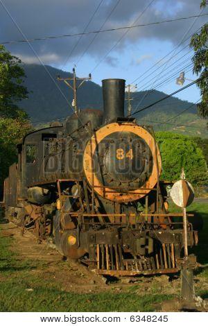 Old Locomotive In Sierpe