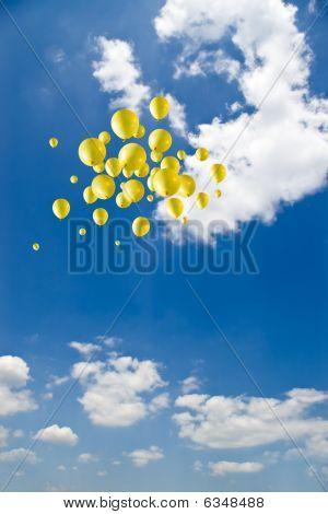 Balloons On Sky