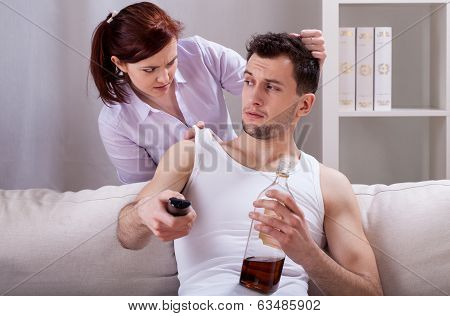 Upset Woman And Her Partner