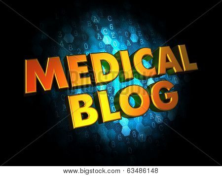 Medical Blog Concept on Digital Background.