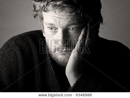 Depressed Middle Aged Man