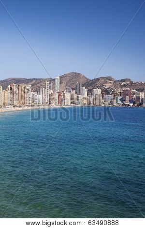 Playa de Levante Benidorm, Spain.