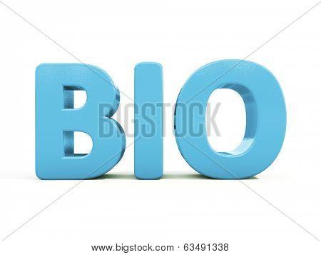 Bio icon on a white background. 3D illustration