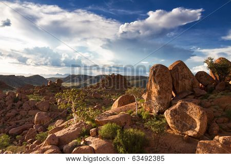 Rock Formations At Damaraland