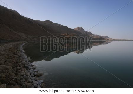 Dead Sea Mountain Reflection