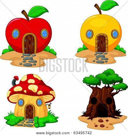 Fantasy house cartoon collection
