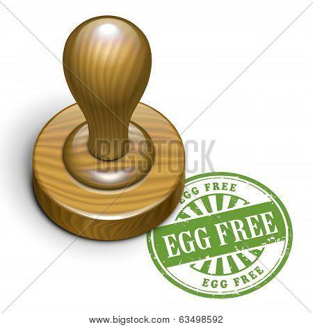 Egg Free Grunge Rubber Stamp