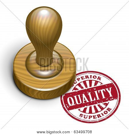 Quality Grunge Rubber Stamp