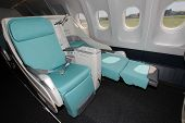 image of first class  - Comfortable seats with a couchette in bussines class - JPG