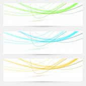 Abstract Swoosh Lines Bright Banners Collection