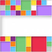 Modern User Interface Flat Design Colorful Squares