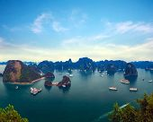 Halong Bay panorama in Vietnam.
