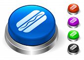 Hotdog Icons on Round Button Collection