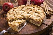 stock photo of pie-in-face  - apple pie  - JPG