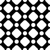 Seamless Monochrome Geometric Background