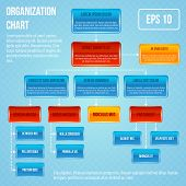 foto of hierarchy  - Organizational chart infographic business work hierarchy flowchart structure vector illustration - JPG
