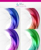 Mega sale - collection of wave backgrounds. 4 design templates