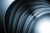 Abstract Grunge Curve Metal Background