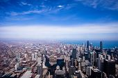 picture of highrises  - Chicago Skyline Aerial View in Chicago USA - JPG