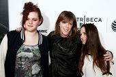 NEW YORK-APR 16: Isabella Hatkoff, Jane Rosenthal &Juliana Hatkoff attend the premiere of
