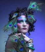 stock photo of female peacock  - Woman  - JPG