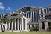 JACKSONVILLE, FL - APRIL 13, 2014: The new Duval County Courthouse in Jacksonville. Construction for