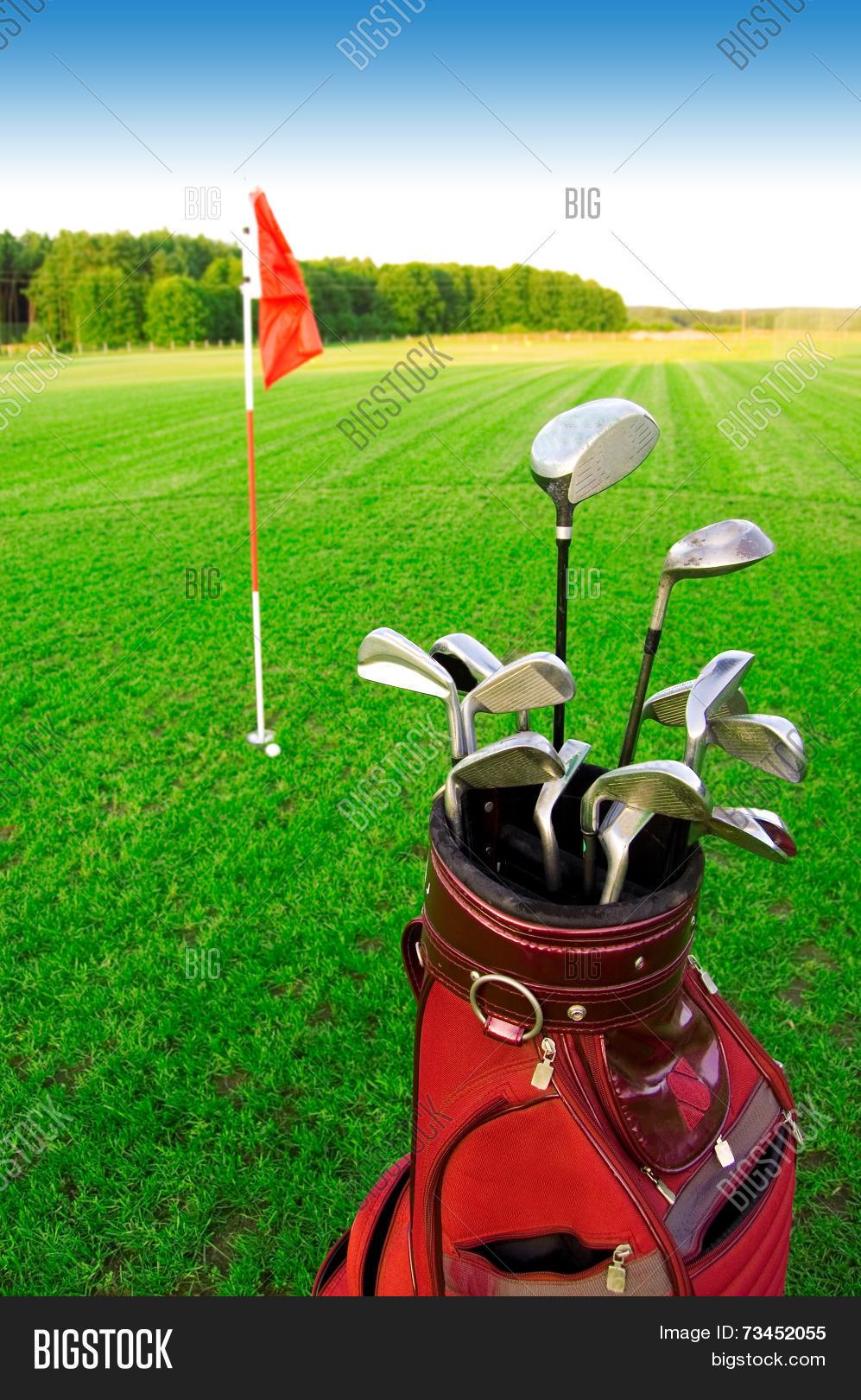 golf game image photo bigstock. Black Bedroom Furniture Sets. Home Design Ideas