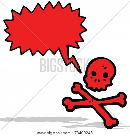 talking skull and crossbones cartoon