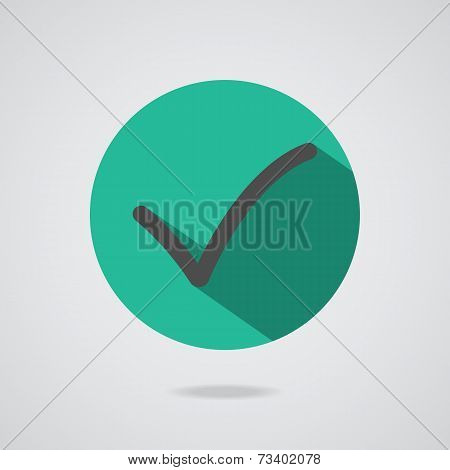 Vector Black Check Mark Icon