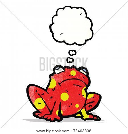 poisonous frog with thought bubble