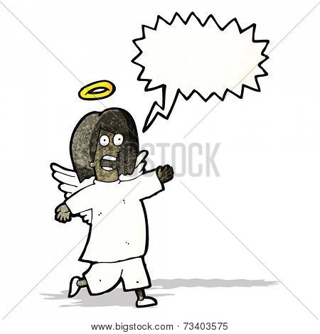 cartoon shouting angel