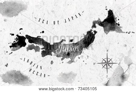 Ink Japan map