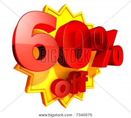 60 Percent price off