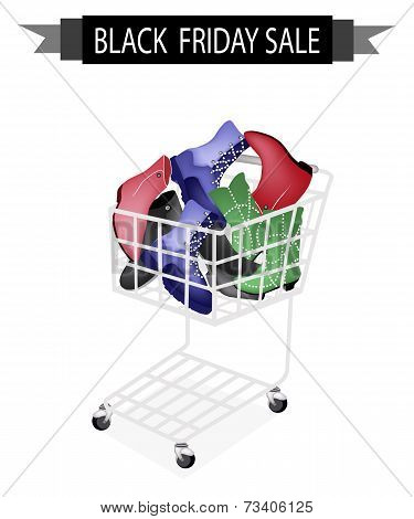 Women Shoes in Black Friday Shopping Cart
