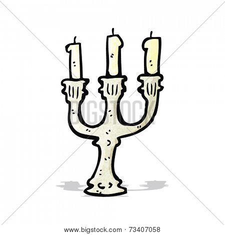 old candlestick cartoon