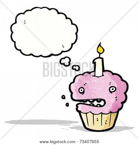 cartoon pink muffin
