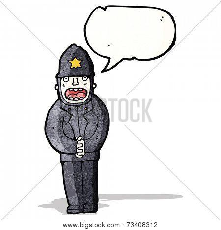 cartoon british police officer