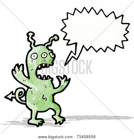 shrieking alien cartoon