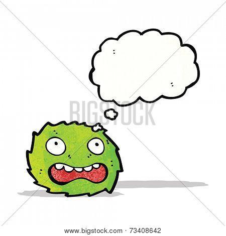 green furry monster cartoon