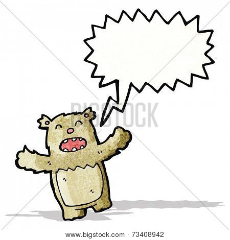 shouting teddy bear cartoon