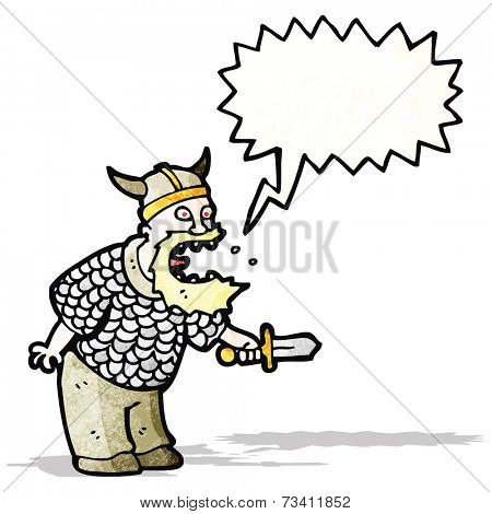 shouting viking cartoon