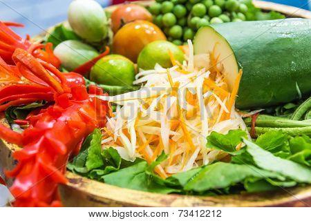 Papaya Salad Ingredients
