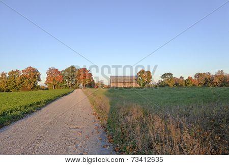 Farm With Fall Colour