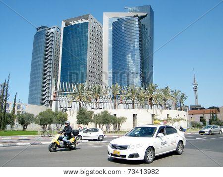 Tel Aviv The Blue Skyscrapers 2011
